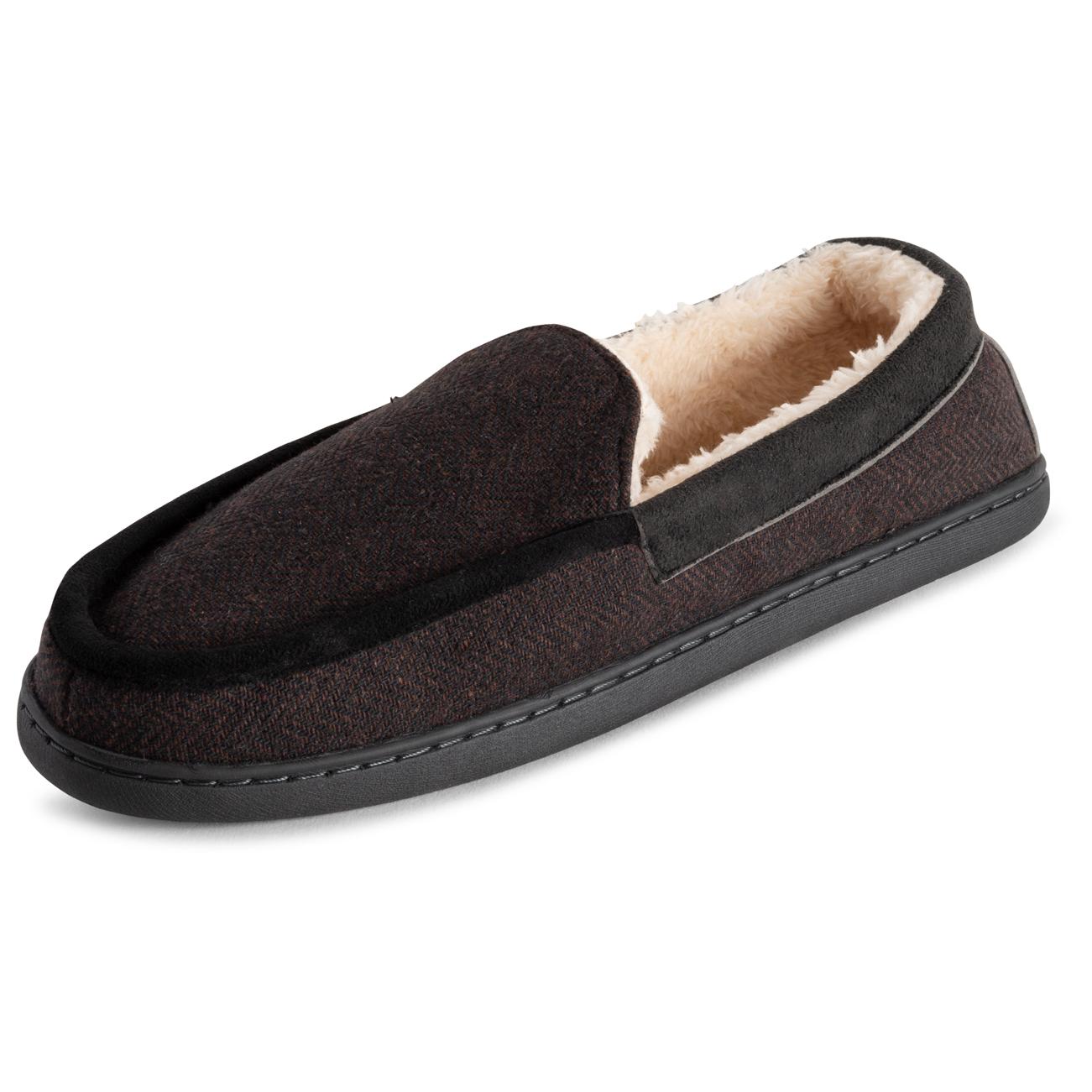 Womens Polar Memory Foam Comfort Faux Fur Moccasin Slippers Duel Size UK 3-10