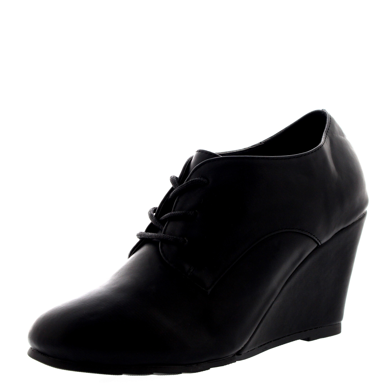09607082a08c Womens Mid Block Heel Lace Up Evening Work Mary Jane Ankle Boot Shoes Viva