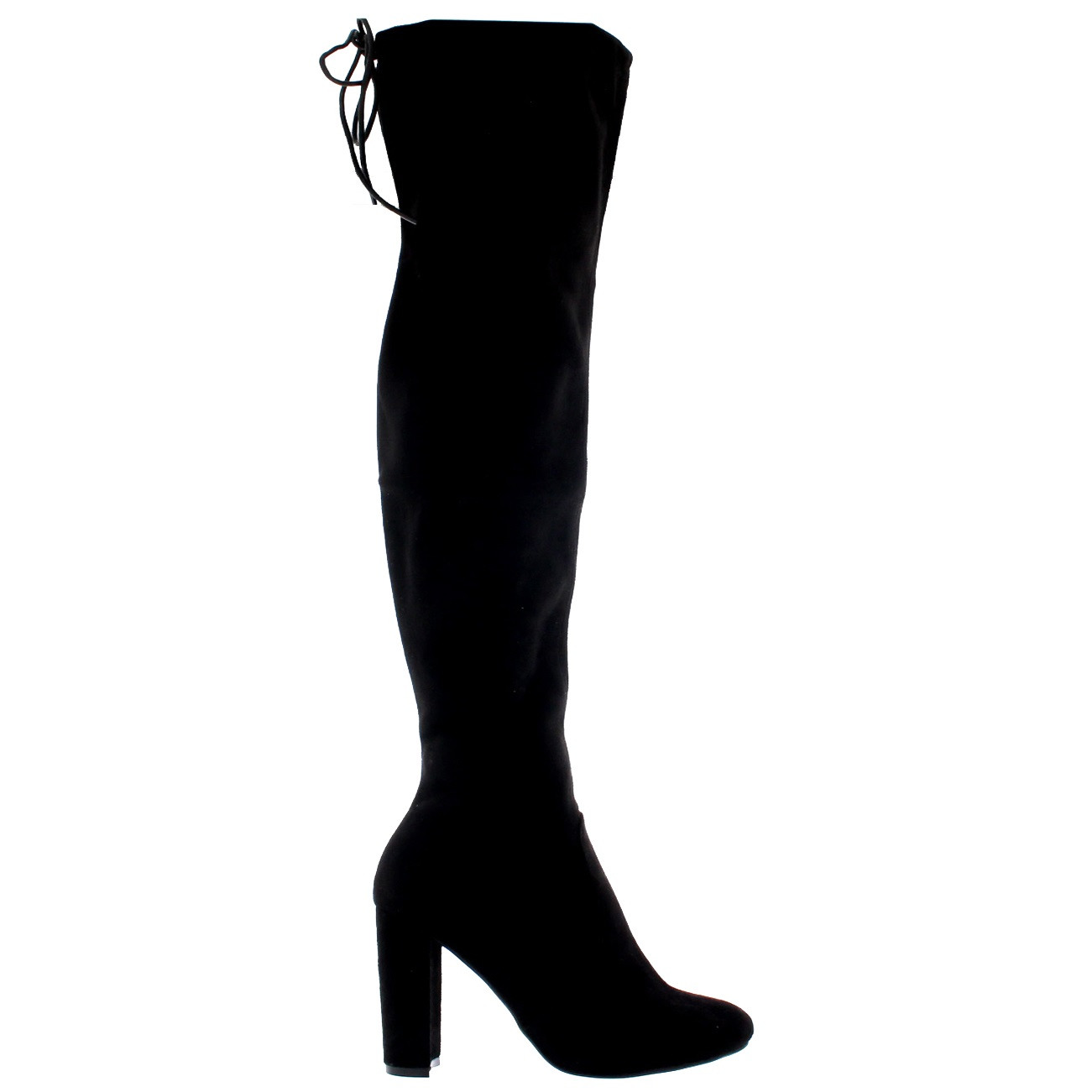 386a89d7e2d8 Womens Block Heel Stretch Long Over The Knee Riding Wide Fit High ...