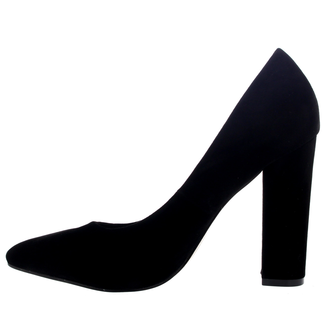 Womens Office Evening Block Heel Pointed Toe Pumps Shoes Work ...