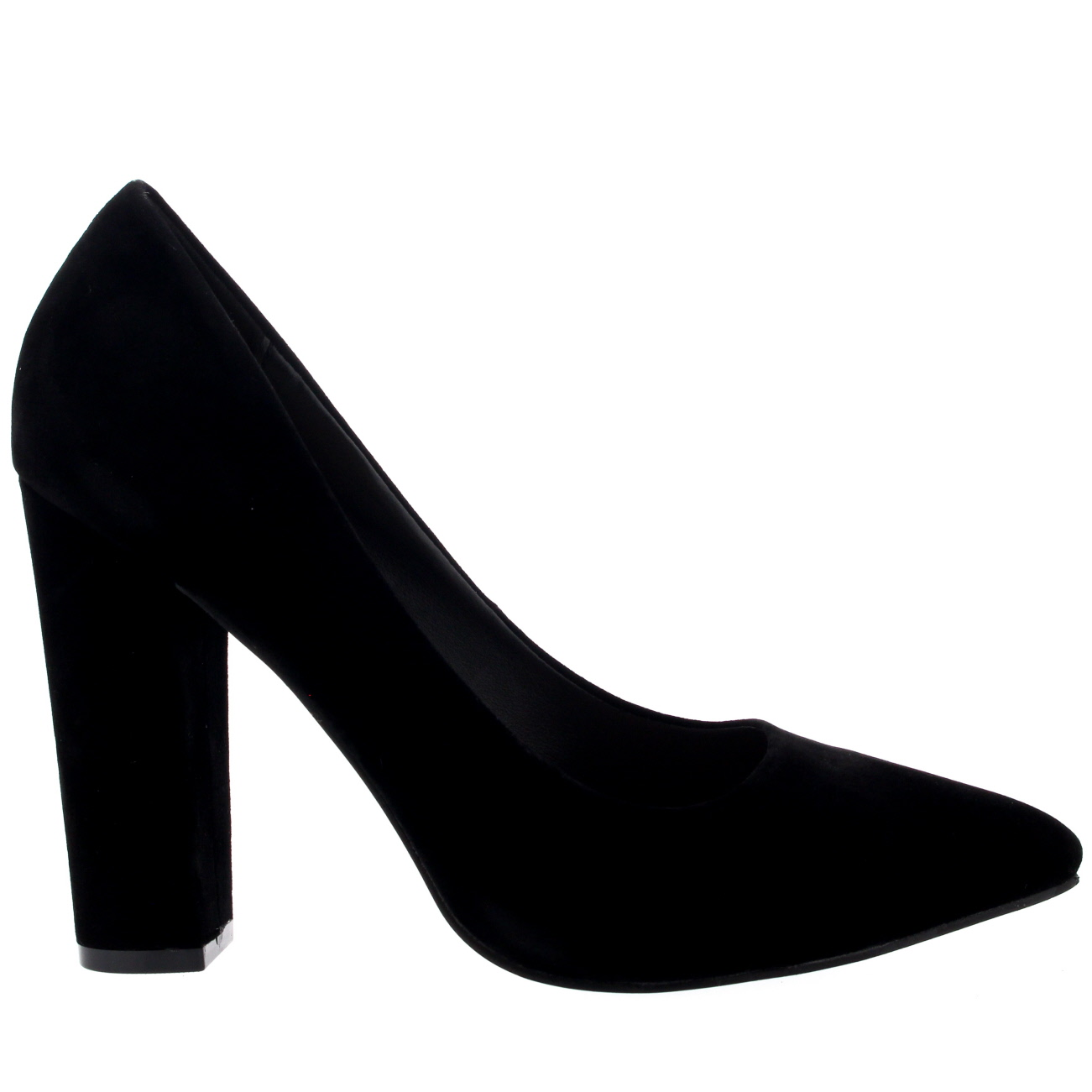 Womens-Office-Evening-Block-Heel-Pointed-Toe-Pumps-