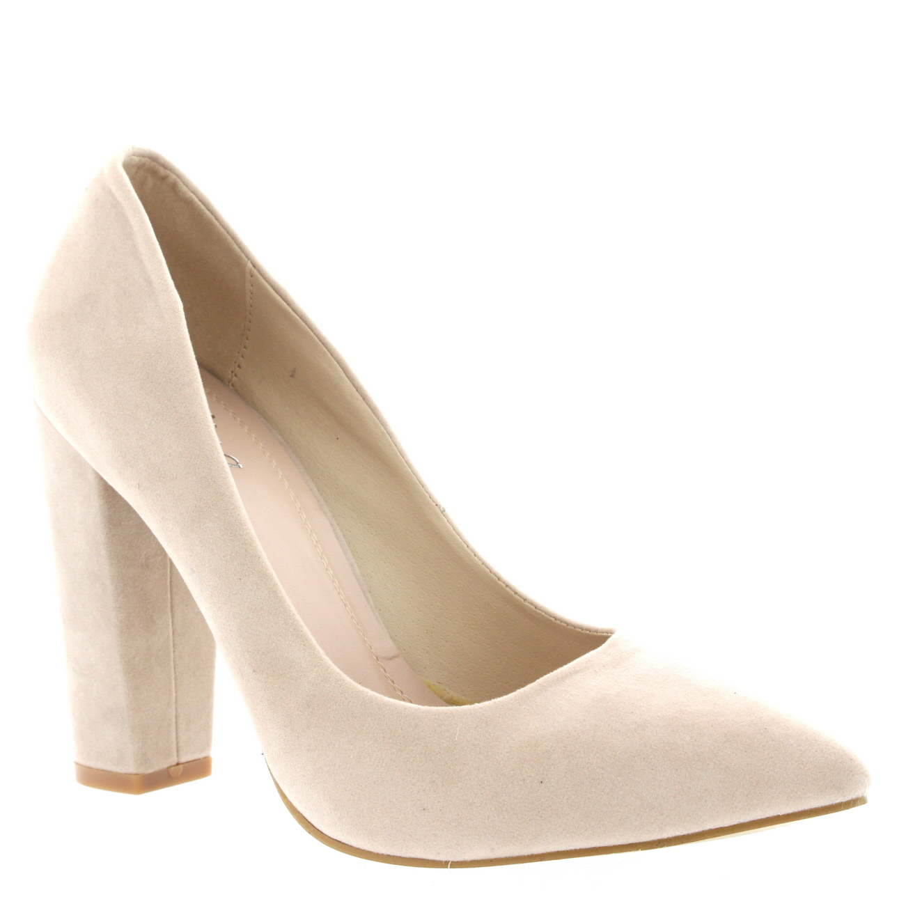 Womens Office Evening Block Heel Pointed Toe Pumps Shoes ...