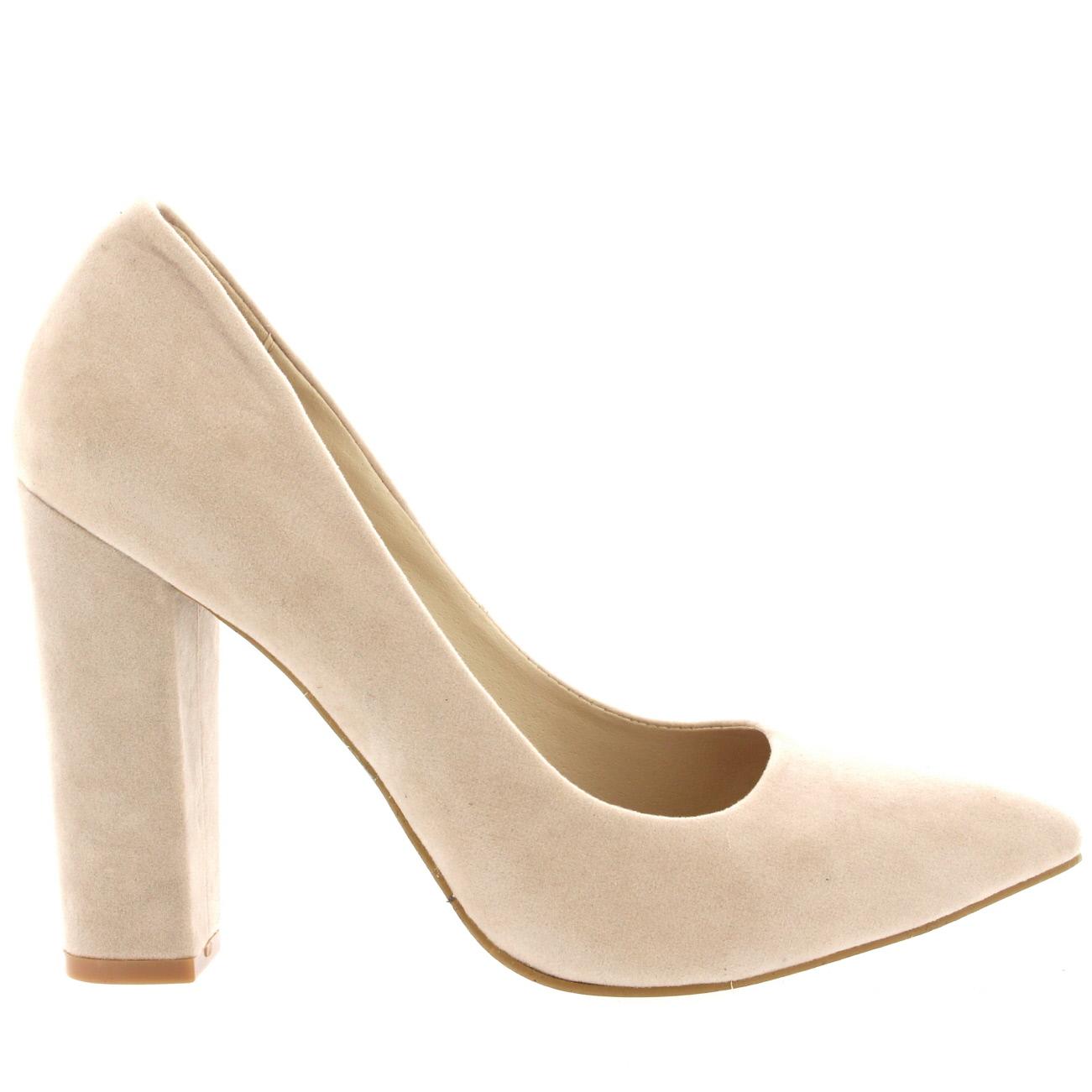 8510837f1 Womens Office Evening Block Heel Pointed Toe Pumps Shoes Work Court Shoe UK  3-10 | eBay