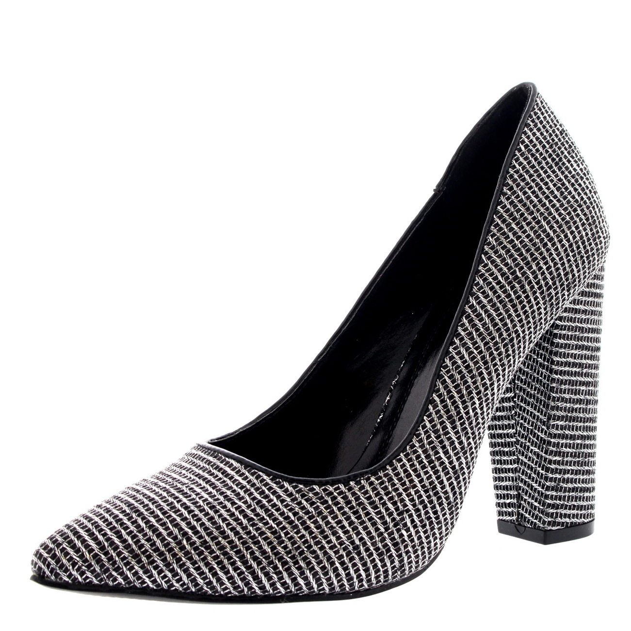 Womens-Office-Evening-Block-Heel-Pointed-Toe-Pumps-Shoes-Work-Court-Shoe-UK-3-10