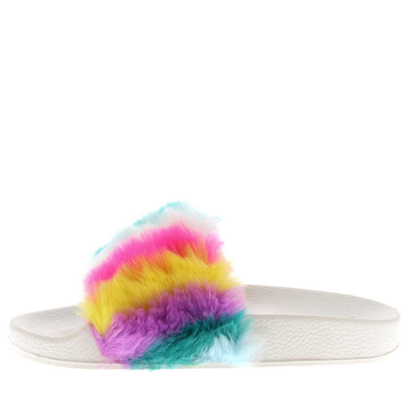 Womens Sassy Chic Summer Single Strap Open Toe Fluffy EVA Fashion Sandals UK 3-8