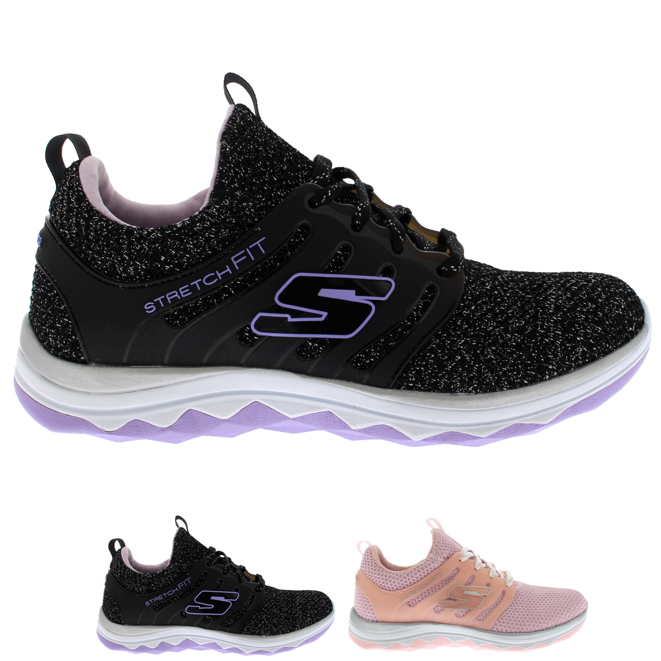 Kids Skechers Diamond Runner Sparkle Sprints