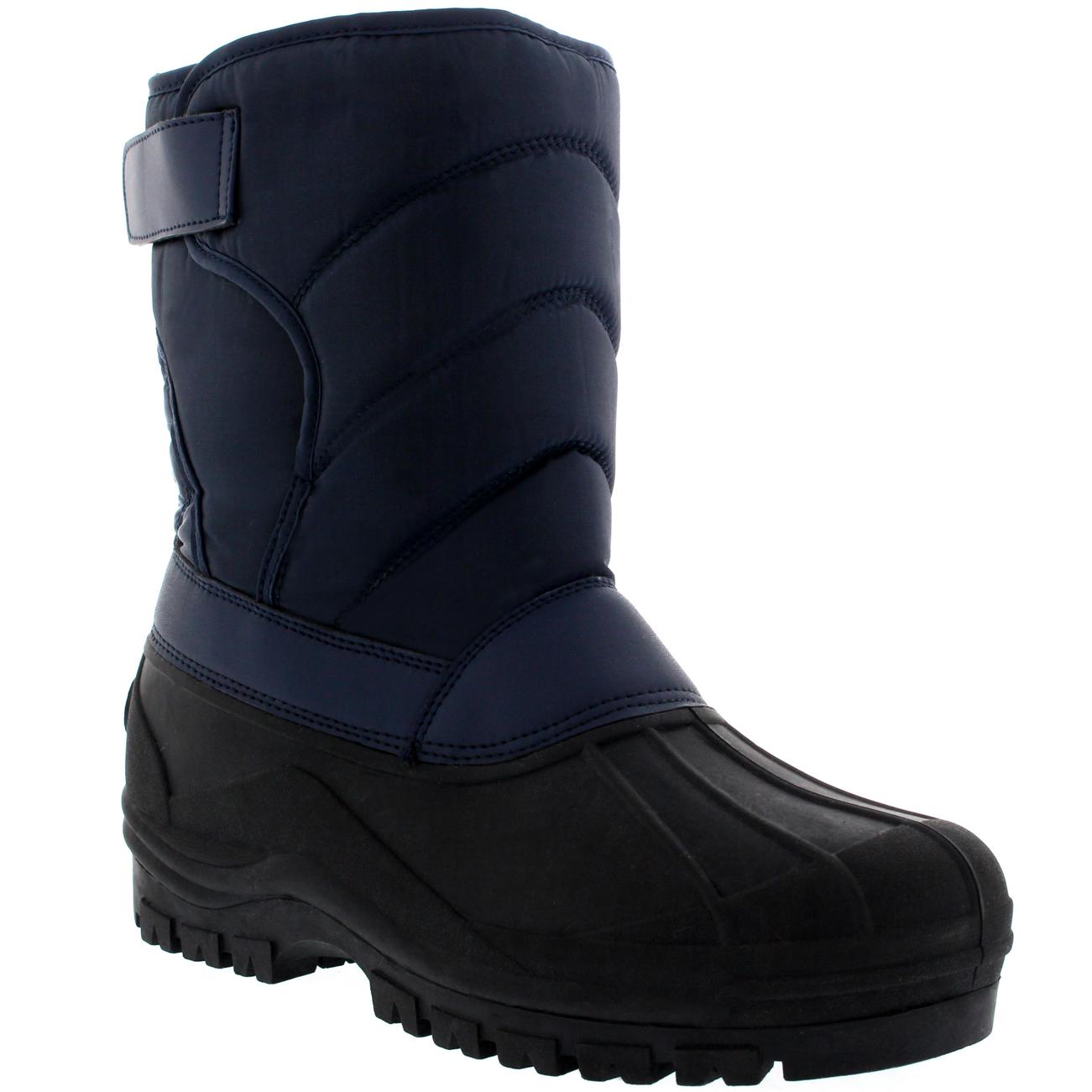 Para Hombre Invierno Nieve Pato Muck Correa de Nylon Botas de lluvia plano al aire libre UK 6-14
