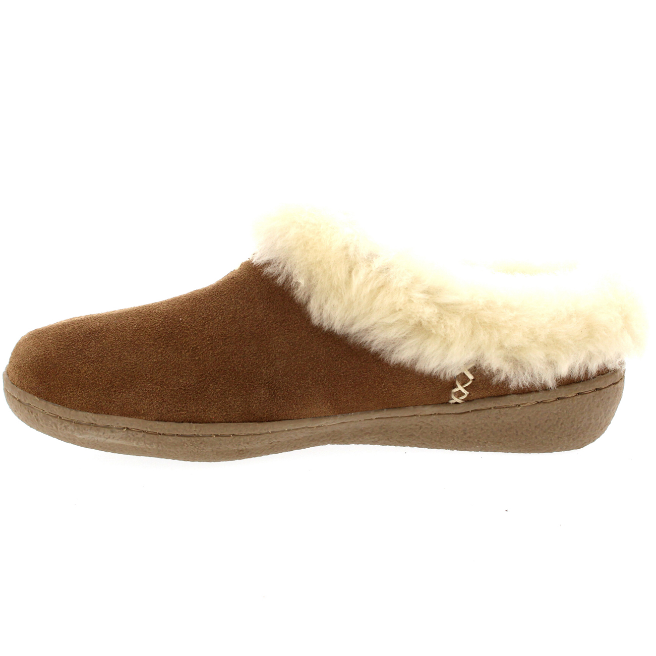 Womens Genuine Suede Australian Sheepskin Fur Lined Warm Mules Slippers UK 3-10 | eBay