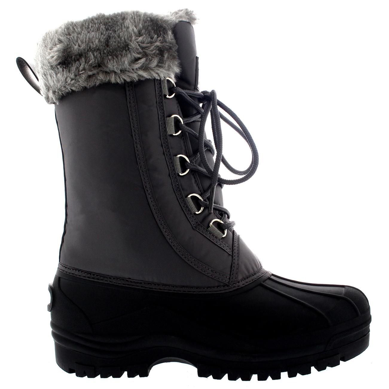 Womens Muck Fur Cuff Winter Walking Hiking Snow Waterproof