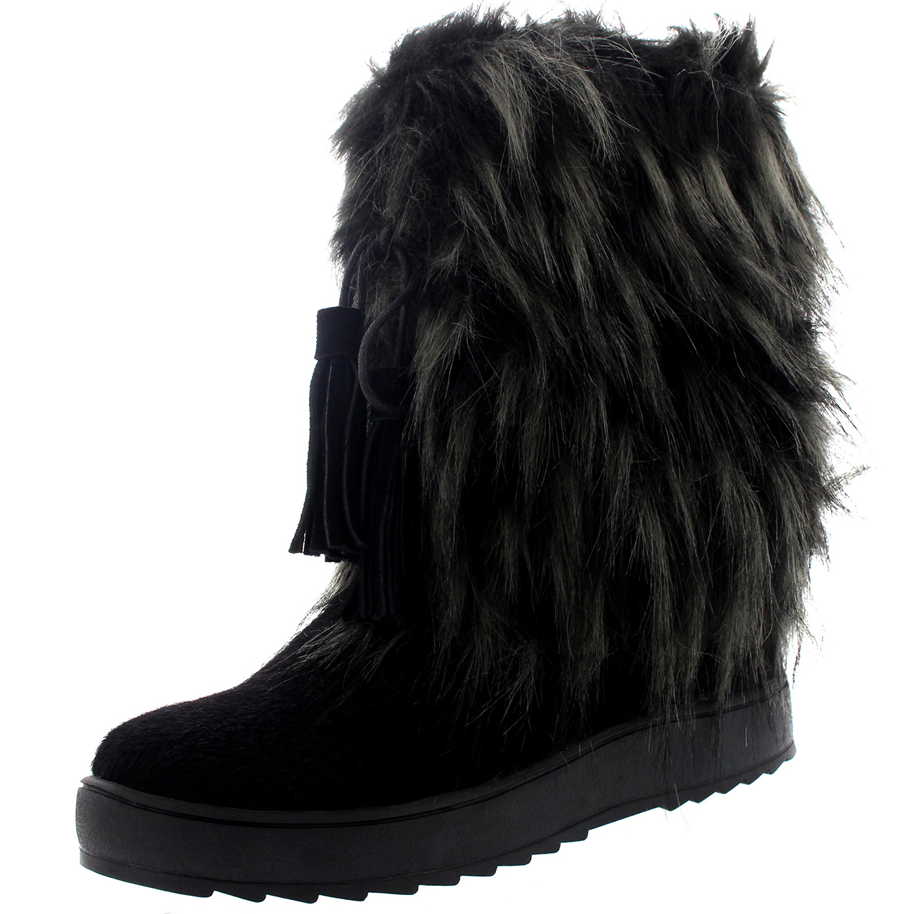 womens yeti eskimo snow fur winter waterproof fashion mid calf boots uk 3 10 ebay