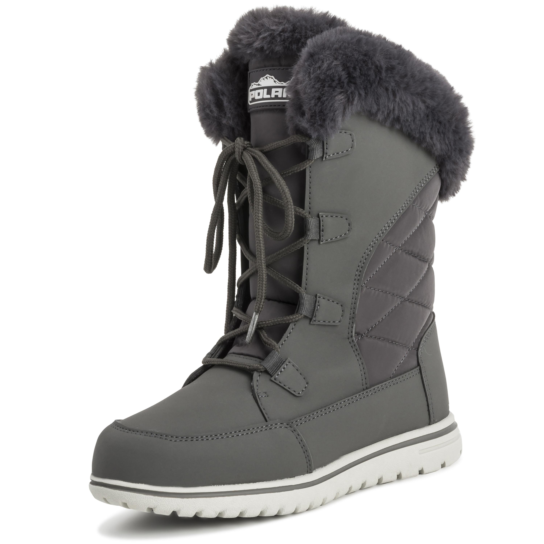 Womens-Duck-Waterproof-Rain-Snow-Winter-Fleece-Lined-Warm-Mid-Calf-Boots-UK-3-9