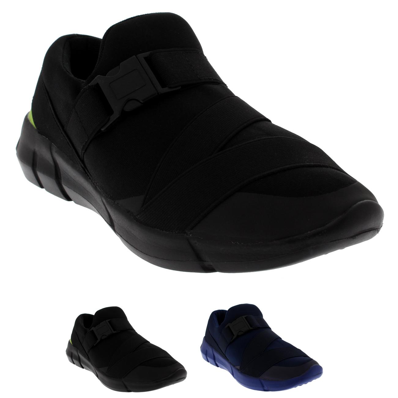 Hebilla para mujer Slip On caminar ligero acolchado Calzado Deportivo Zapatillas UK 3-10