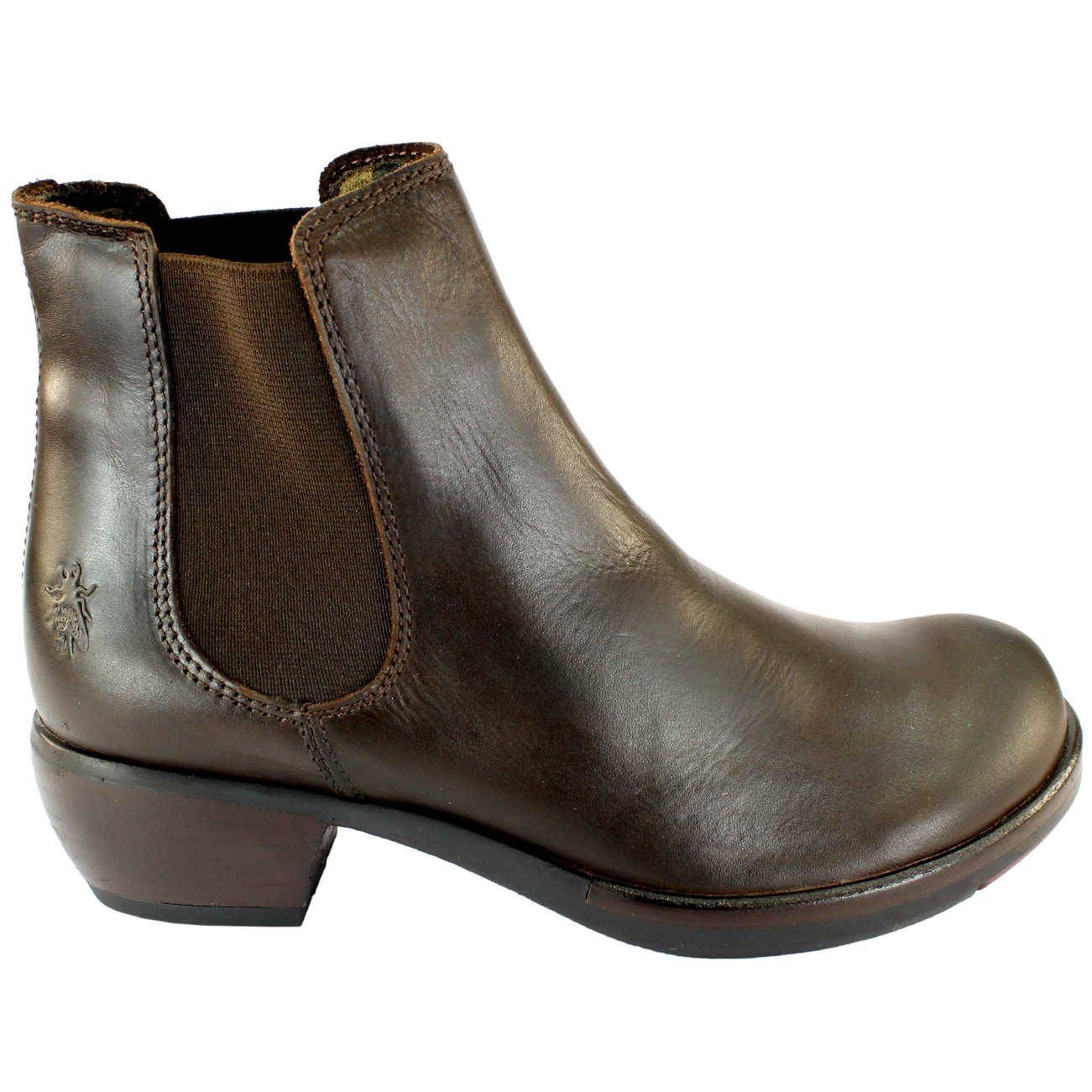 brand new 4d51e 3a126 Details about WOMENS FLY LONDON MAKE LOW HEEL ELASTICATED PULL ON CHELSEA  BOOTS LADIES UK 3-8