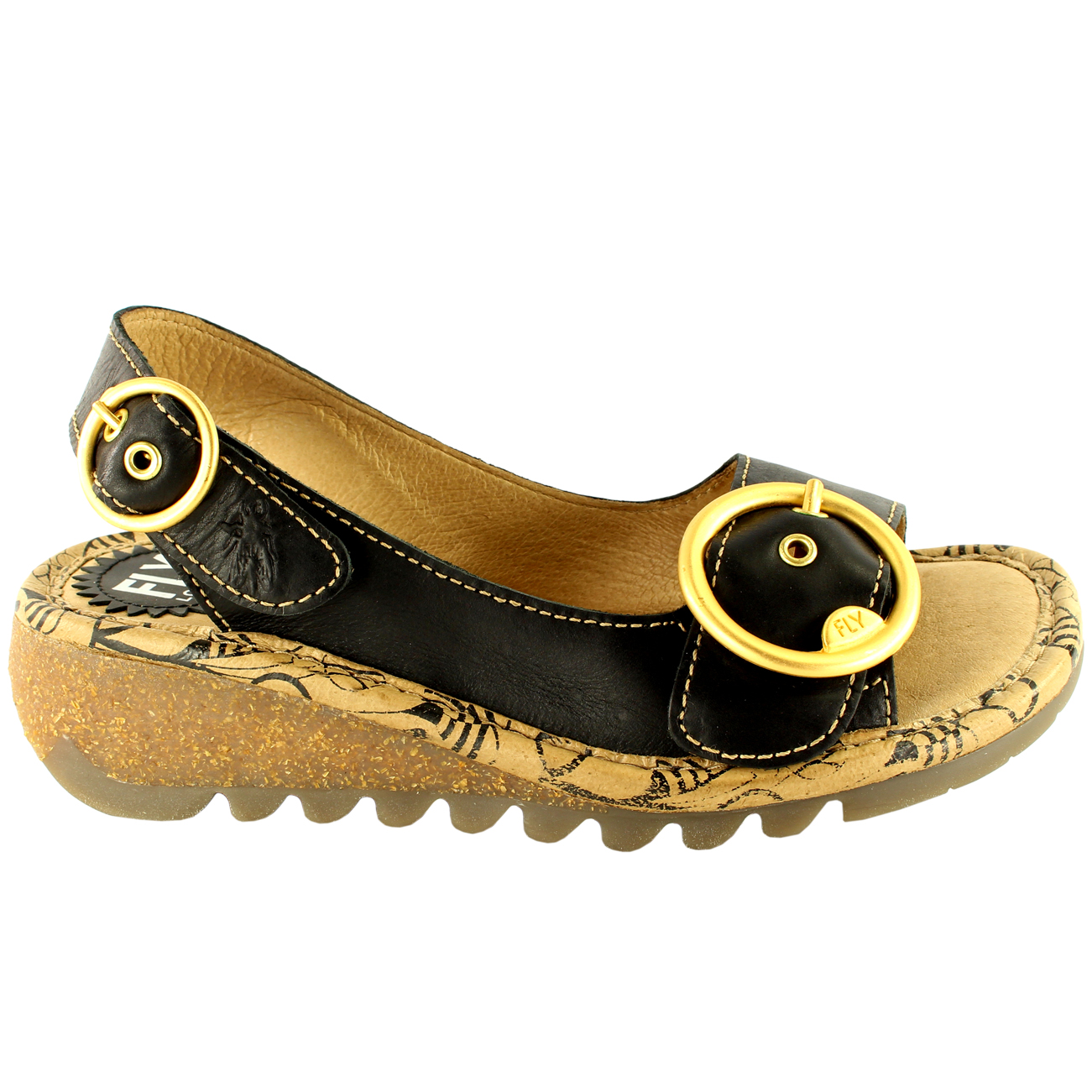 Womens-Fly-London-Tram-Low-Wedge-Summer-Holiday-Buckle-Peep-Toe-Sandals-UK-3-8 thumbnail 13