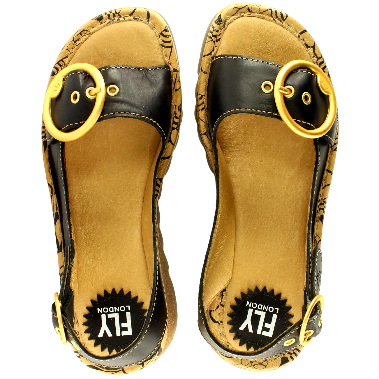 Womens-Fly-London-Tram-Low-Wedge-Summer-Holiday-Buckle-Peep-Toe-Sandals-UK-3-8 thumbnail 14
