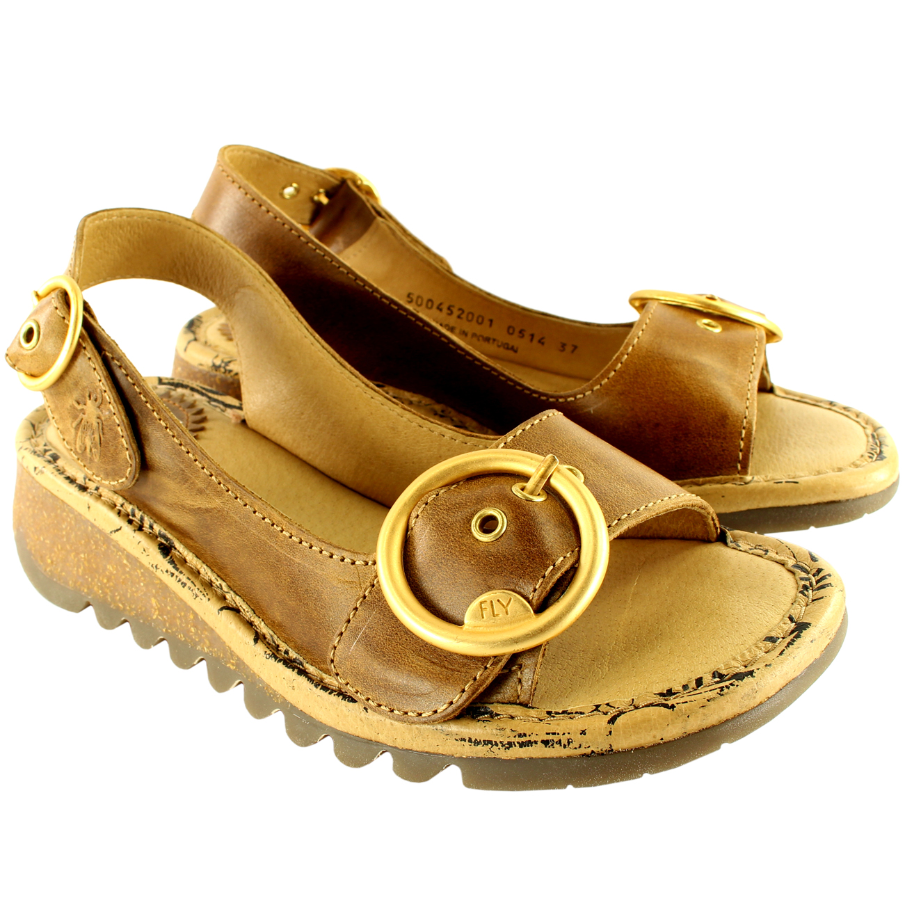 Womens-Fly-London-Tram-Low-Wedge-Summer-Holiday-Buckle-Peep-Toe-Sandals-UK-3-8 thumbnail 16