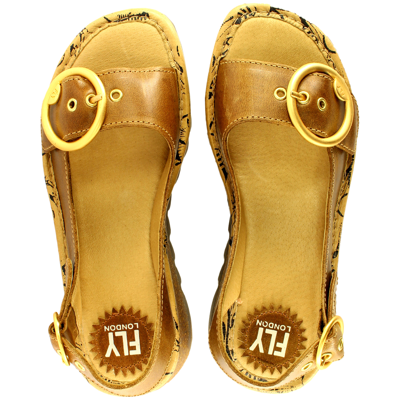 Womens-Fly-London-Tram-Low-Wedge-Summer-Holiday-Buckle-Peep-Toe-Sandals-UK-3-8 thumbnail 18