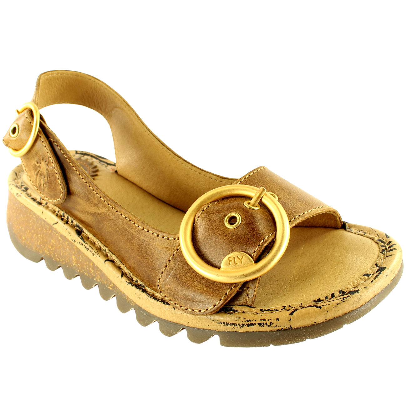 Womens-Fly-London-Tram-Low-Wedge-Summer-Holiday-Buckle-Peep-Toe-Sandals-UK-3-8 thumbnail 19
