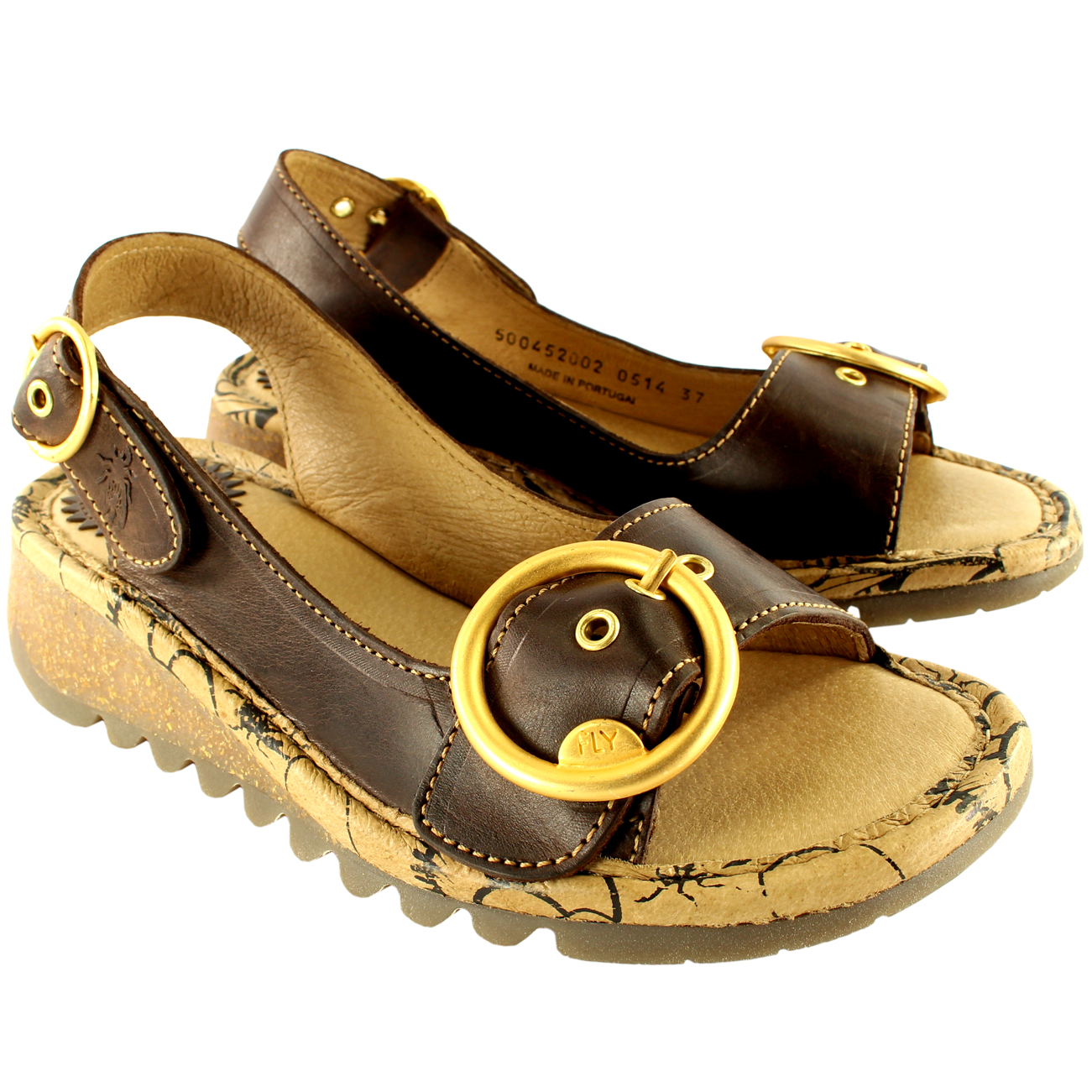 Womens-Fly-London-Tram-Low-Wedge-Summer-Holiday-Buckle-Peep-Toe-Sandals-UK-3-8 thumbnail 20