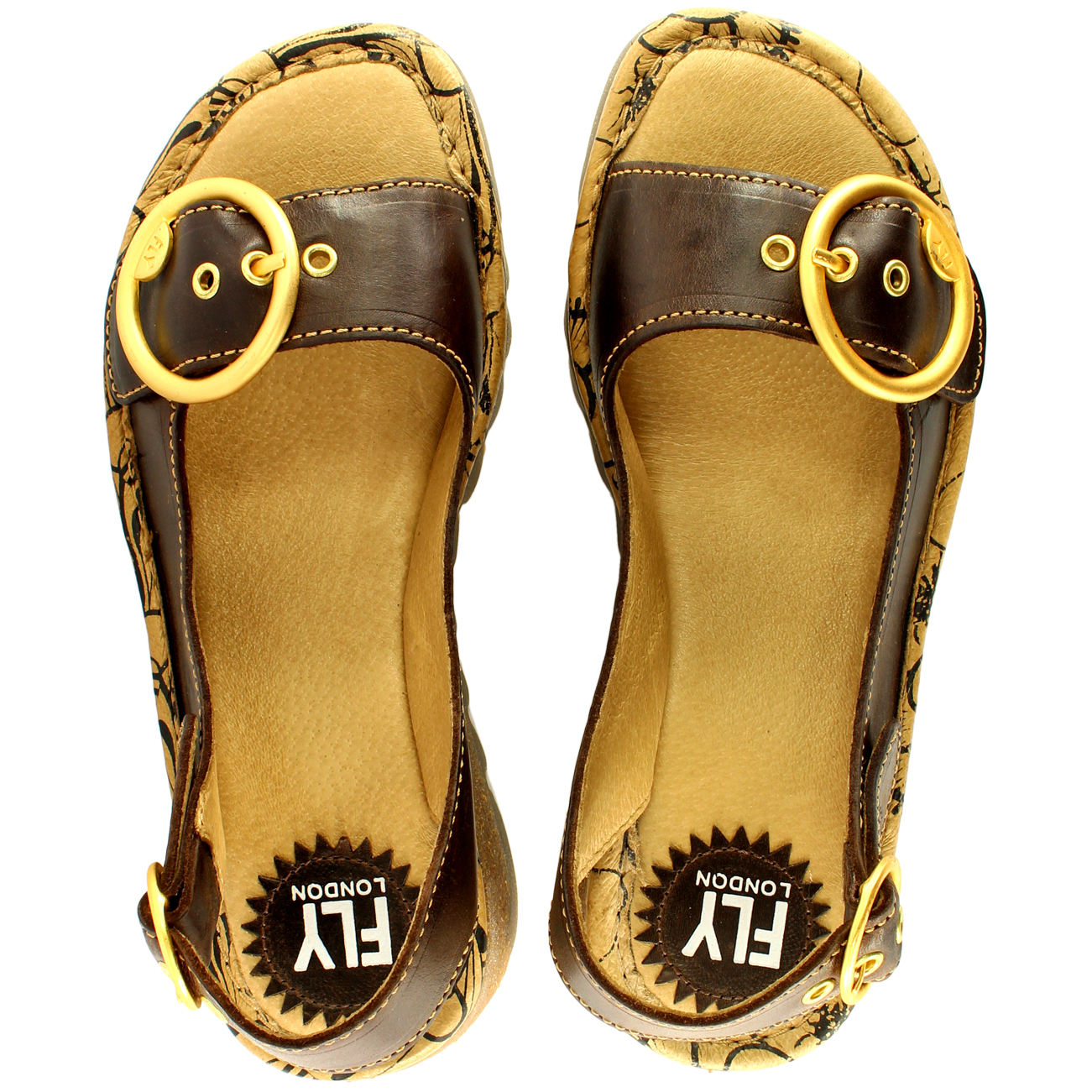 Womens-Fly-London-Tram-Low-Wedge-Summer-Holiday-Buckle-Peep-Toe-Sandals-UK-3-8 thumbnail 22
