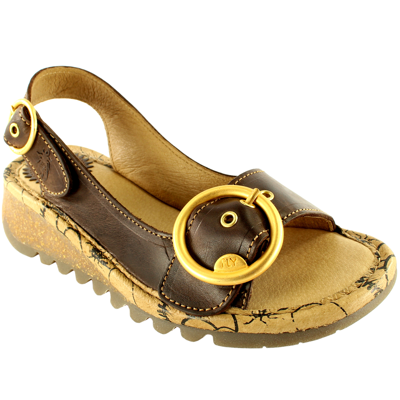 Womens-Fly-London-Tram-Low-Wedge-Summer-Holiday-Buckle-Peep-Toe-Sandals-UK-3-8 thumbnail 23