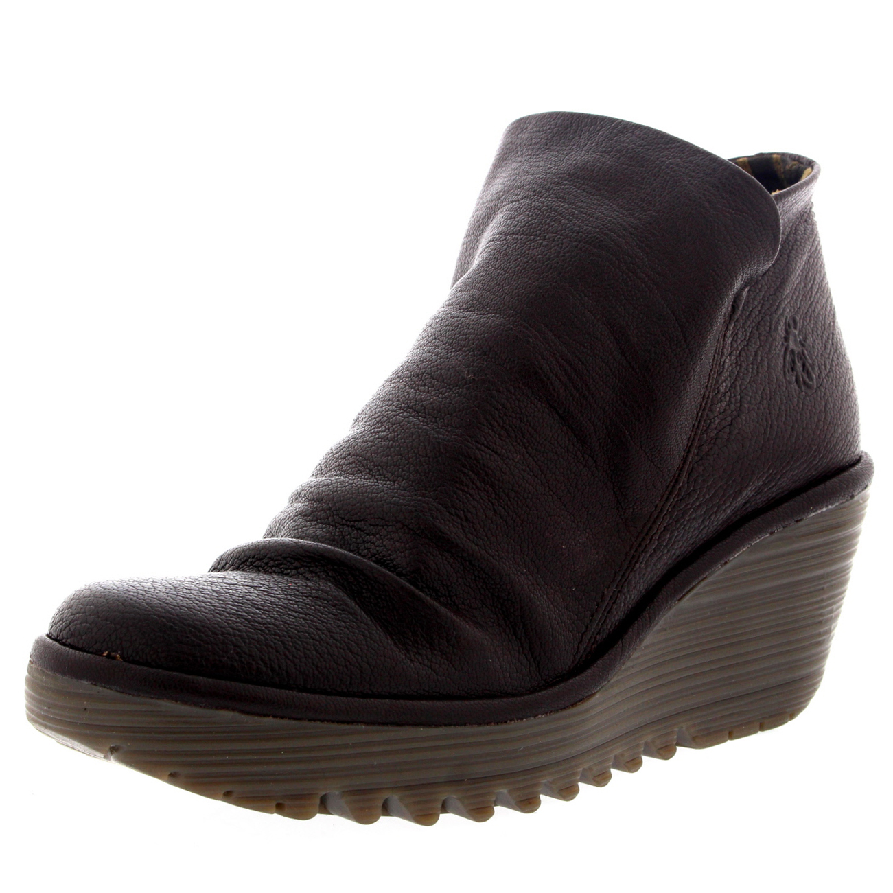 Damenschuhe Fly Heel London Yip Mousse Wedge Heel Fly Leder Casual Winter Ankle Boot UK 3-9 357817