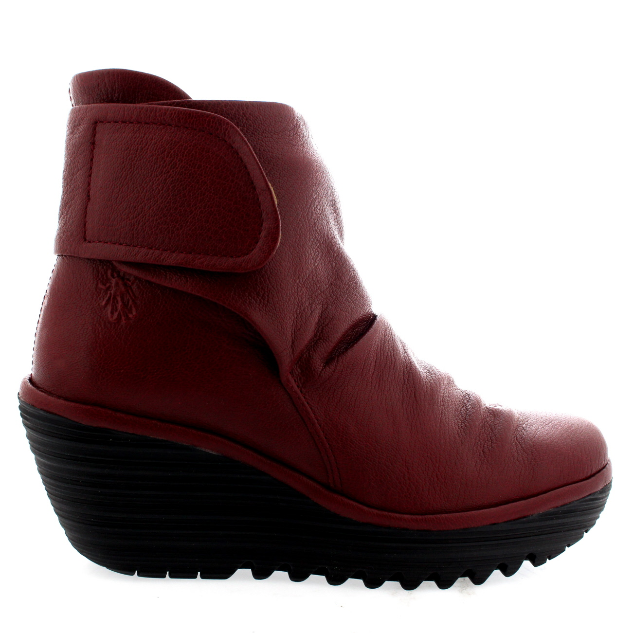 24b2929f7a6 Womens Fly London Yegi Wedge Heel Leather Winter Ankle Boots Shoes ...
