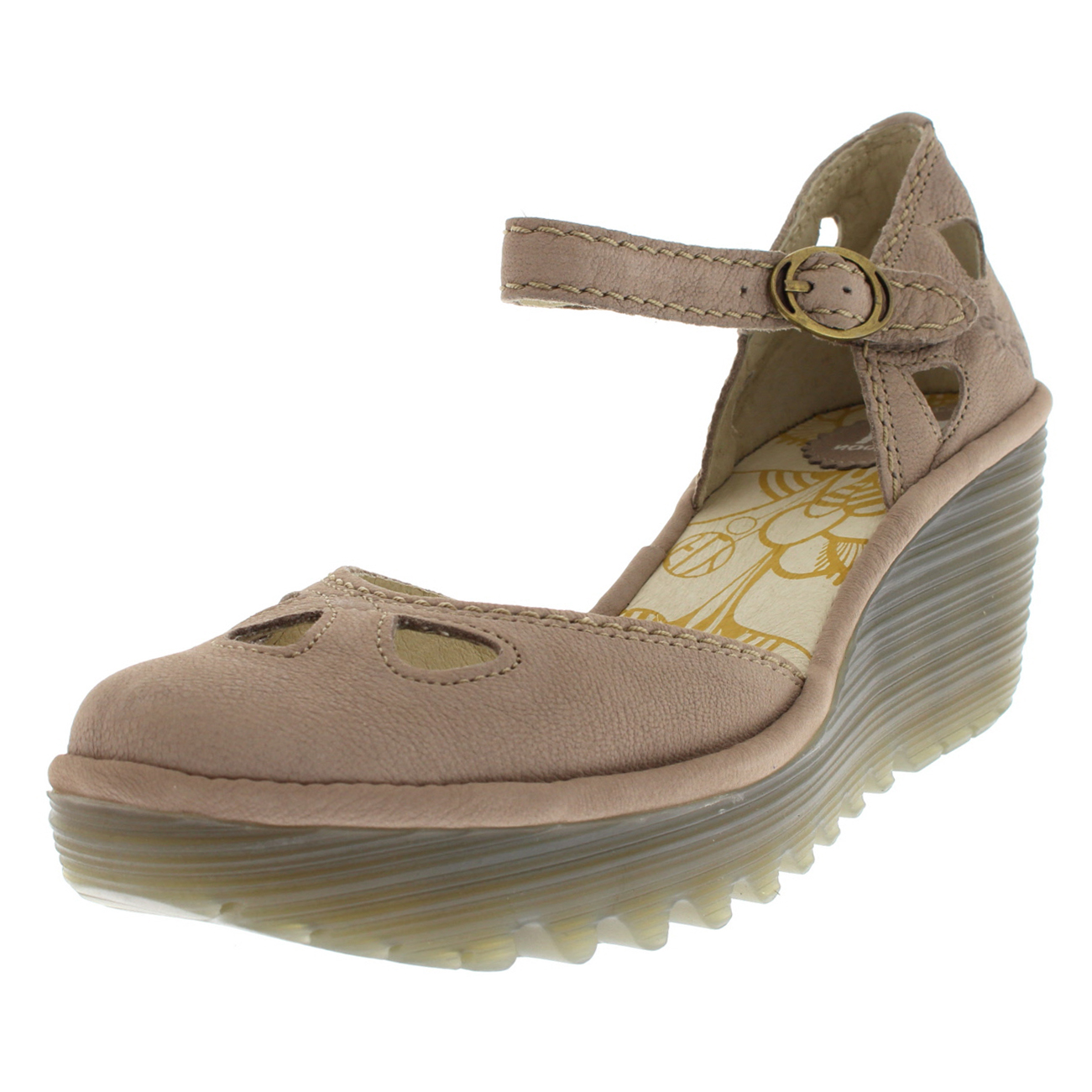 Womens Fly London Yuna Cupido Sandals Leather Wedge Heel Summer Sandals Cupido Shoes d96688