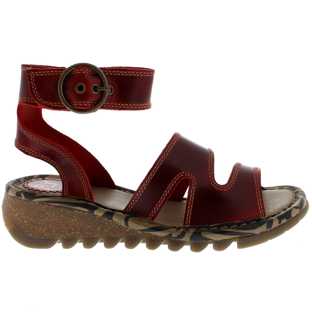 Womens-Fly-London-Tily-Leather-Ankle-Strap-Roman-Open-Toe-Holiday-Sandals-UK-3-9