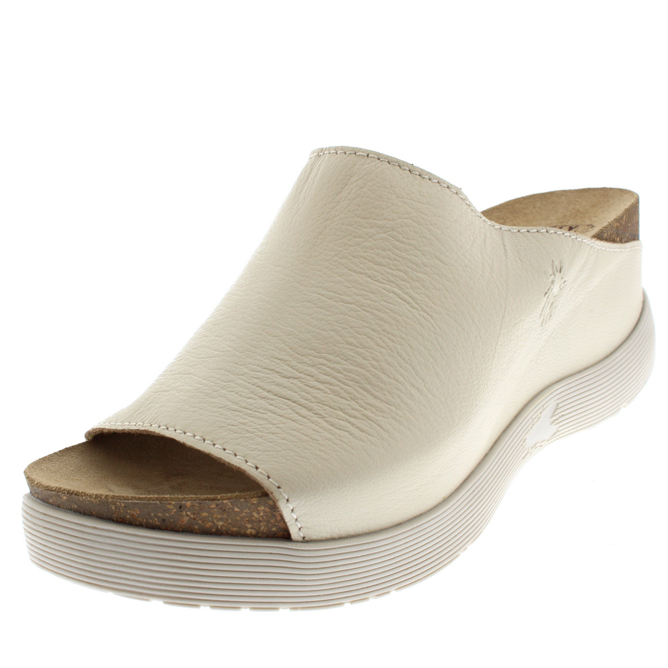 Damenschuhe Fly London Wigg Mousse Leder Open Toe UK Mules Wedge Heel Sandales UK Toe 3-9 24544a