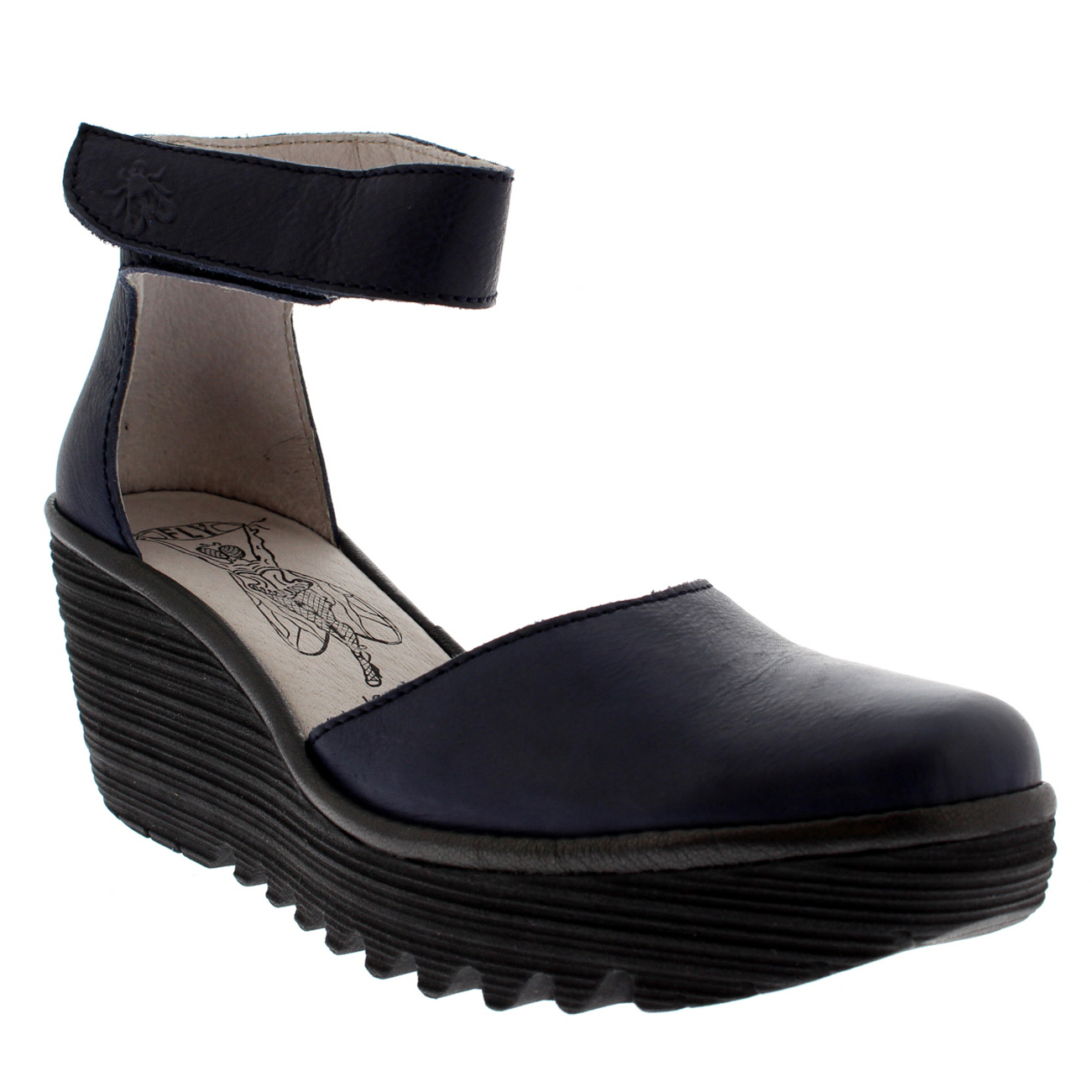 Damenschuhe Fly London Heel Yand Leder Strappy Wedge Heel London Summer Sandales Schuhes UK 3-9 2e2b3f