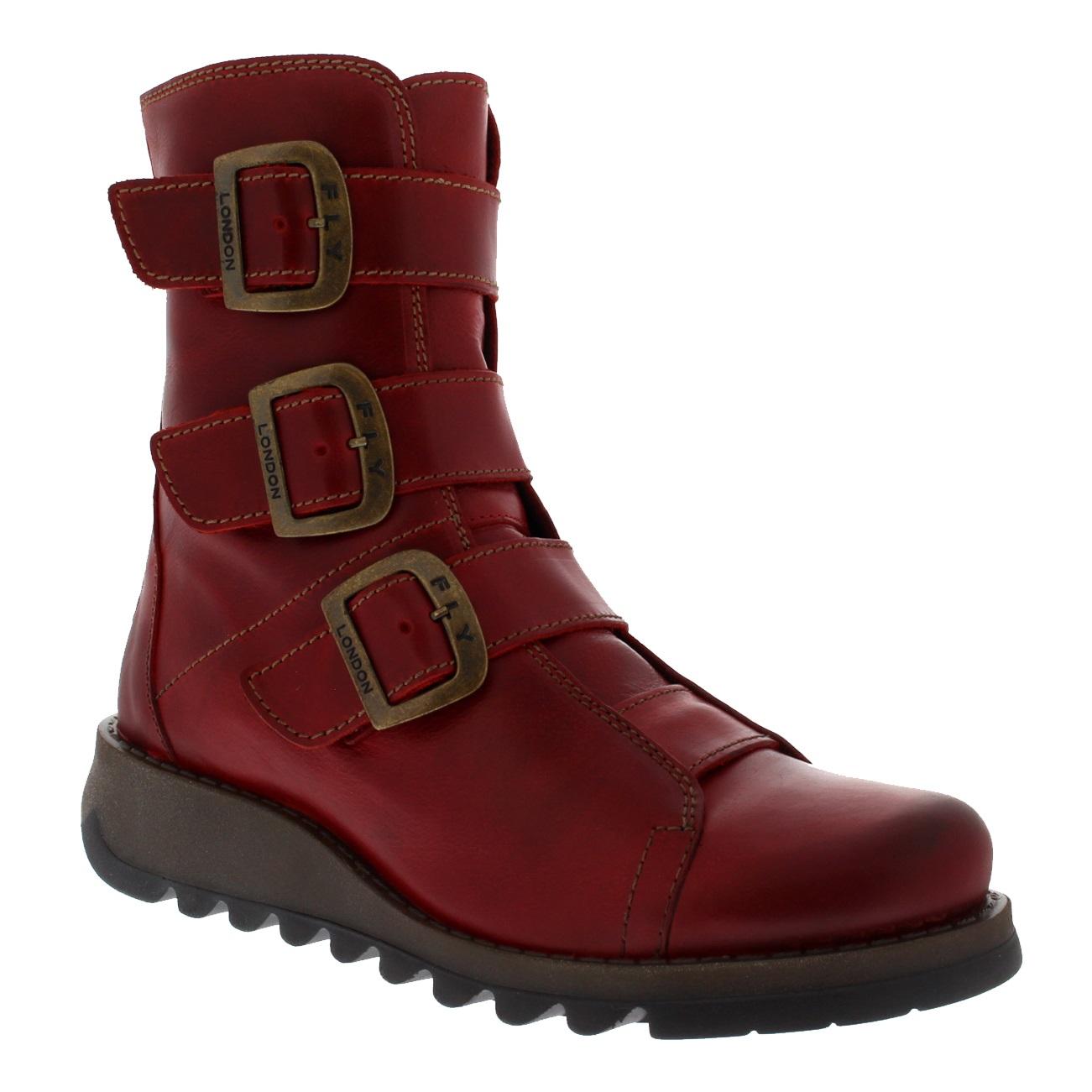 Womens-Fly-London-Scop-Rug-Leather-Biker-Winter-Wedge-Heel-Ankle-Boots-UK-3-9