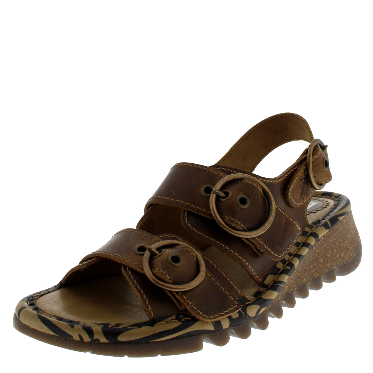 99bca49370e36f Fly London Womens Camel Tear806fly Bridle Sandals UK Sizes 3-8 UK 4 ...