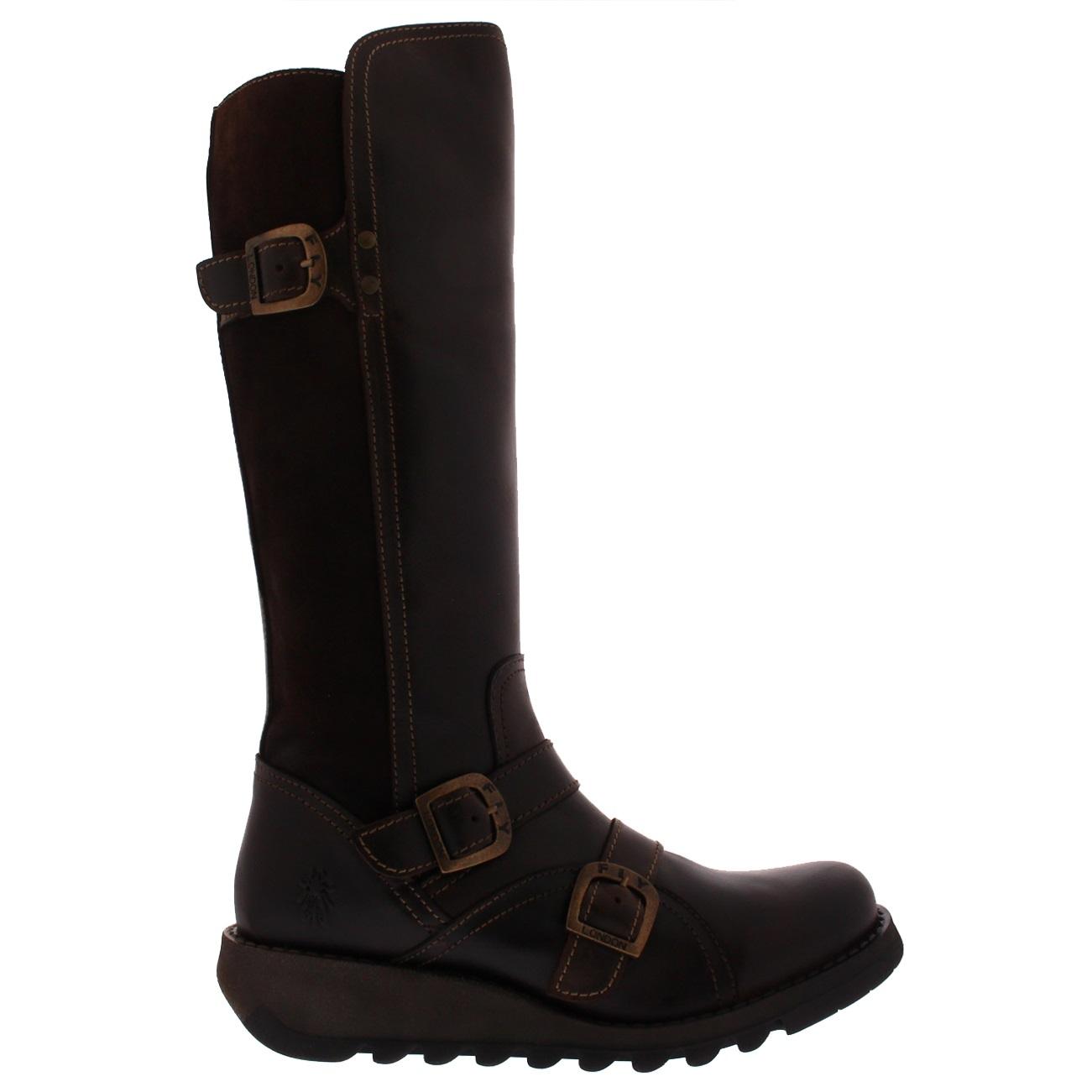 Womens-Fly-London-Suda-Leather-Winter-Work-Wedge-Heel-Knee-High-Boots-UK-3-10 thumbnail 17
