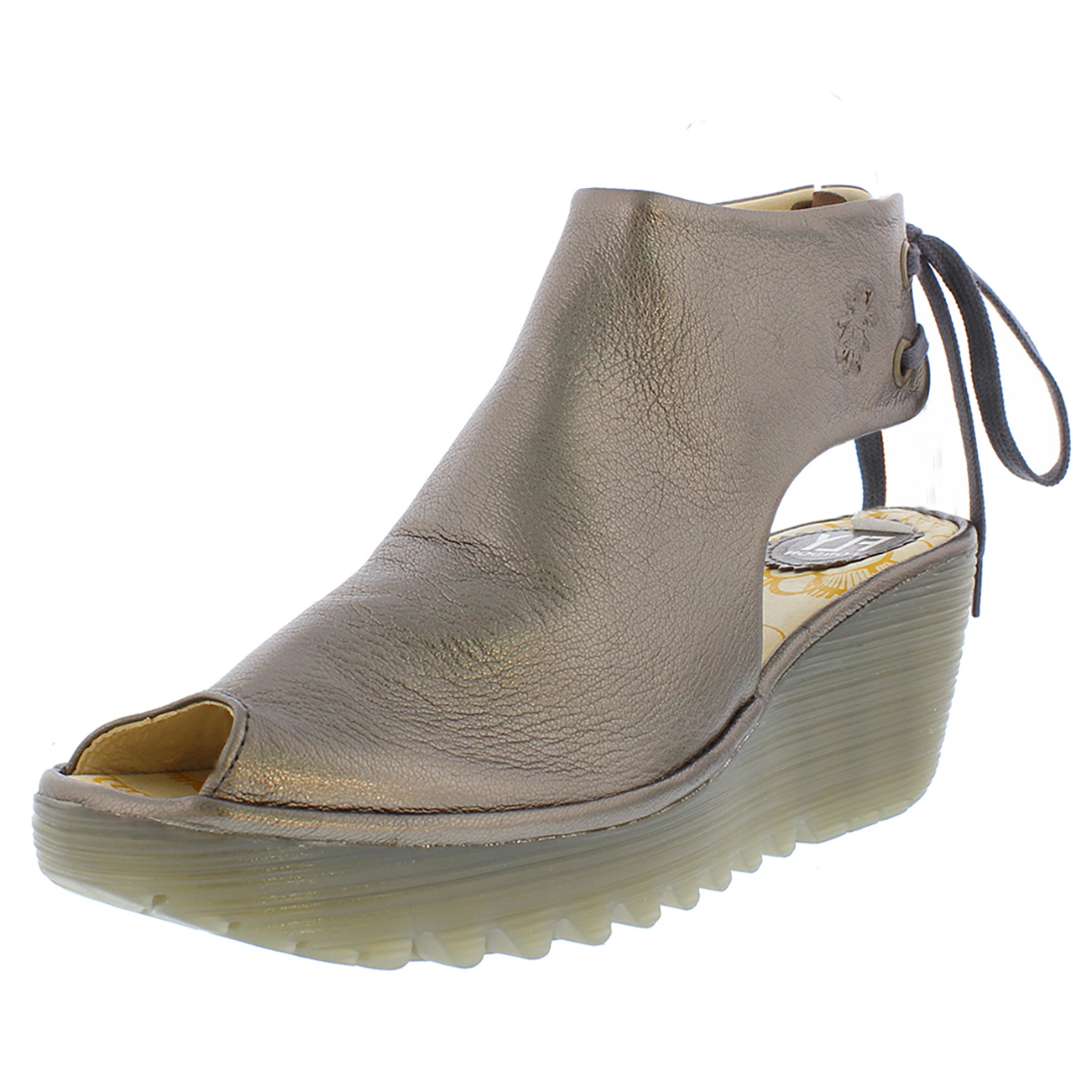 Womens Fly London Yote Leather Open Toe Wedge Heel Cut Out Summer Sandals UK 3-9