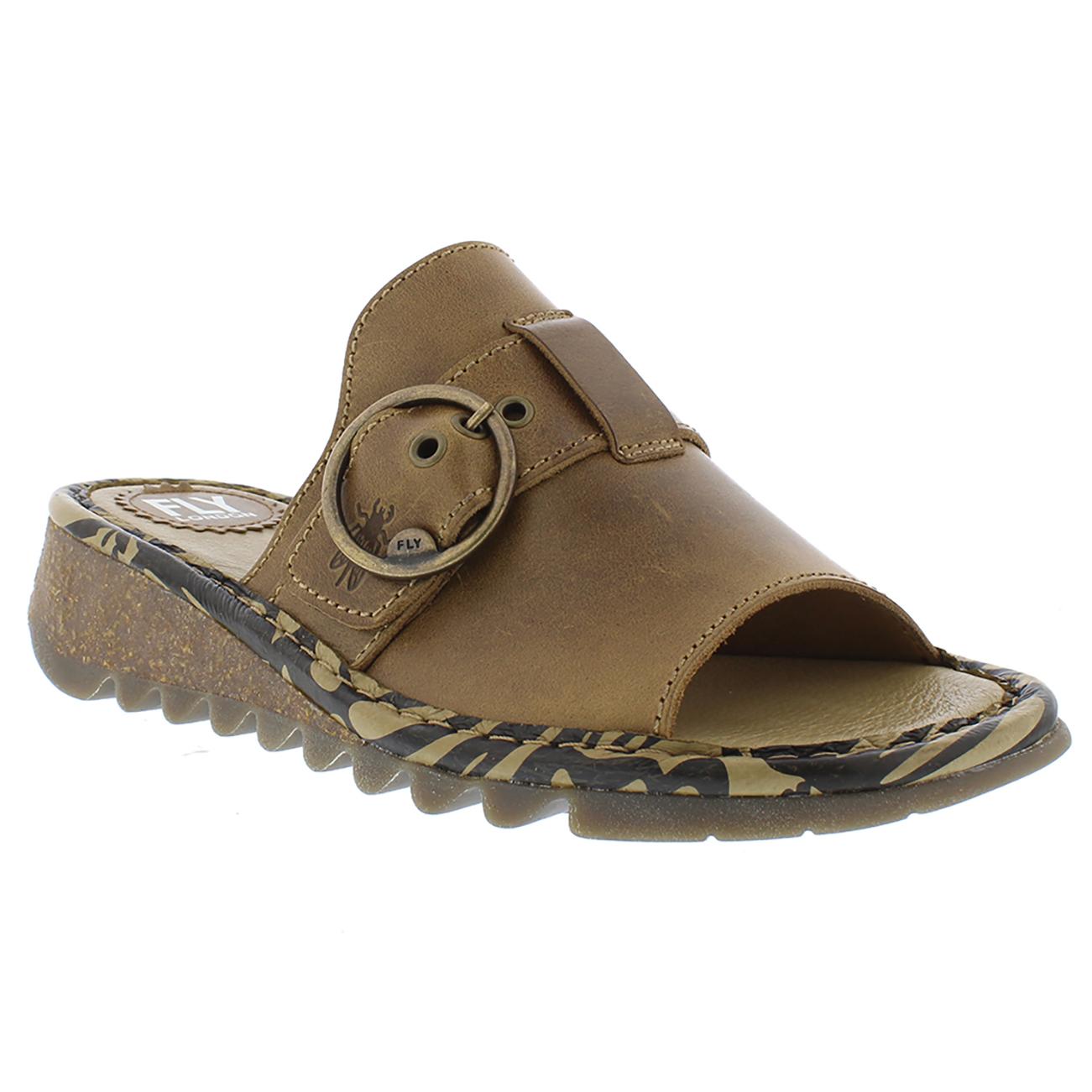 Womens Fly London Tani Bridle Leather Wedge Heel Heel Heel Open Toe Summer Sandals UK 3-9 b8f970