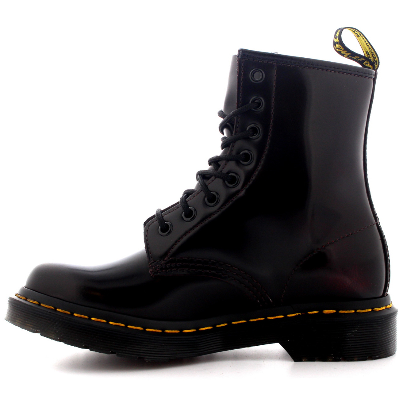 d0216238fca2d Womens Dr Martens 1460 Arcadia Leather Cherry Red Burnished Ankle Boots UK  3-9