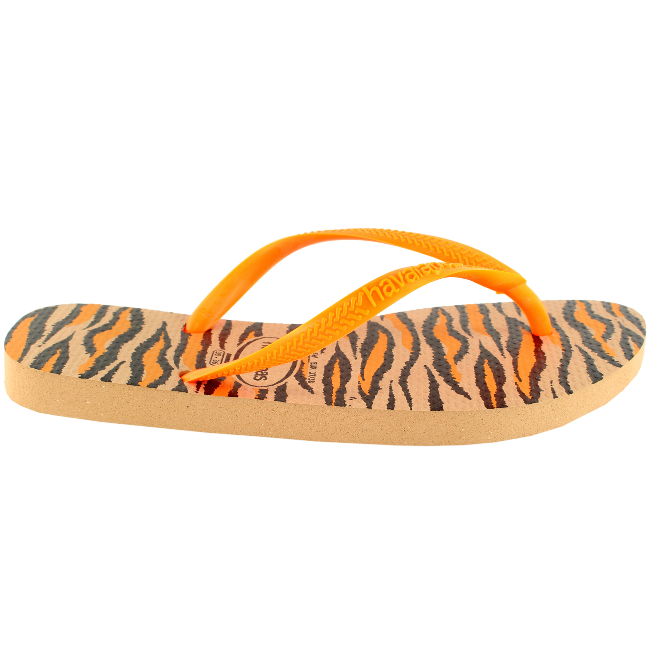f50544e595049 Womens Havaianas Slim Animals Fluo Flip Flop Summer Beach Sandal UK Sizes  1-8