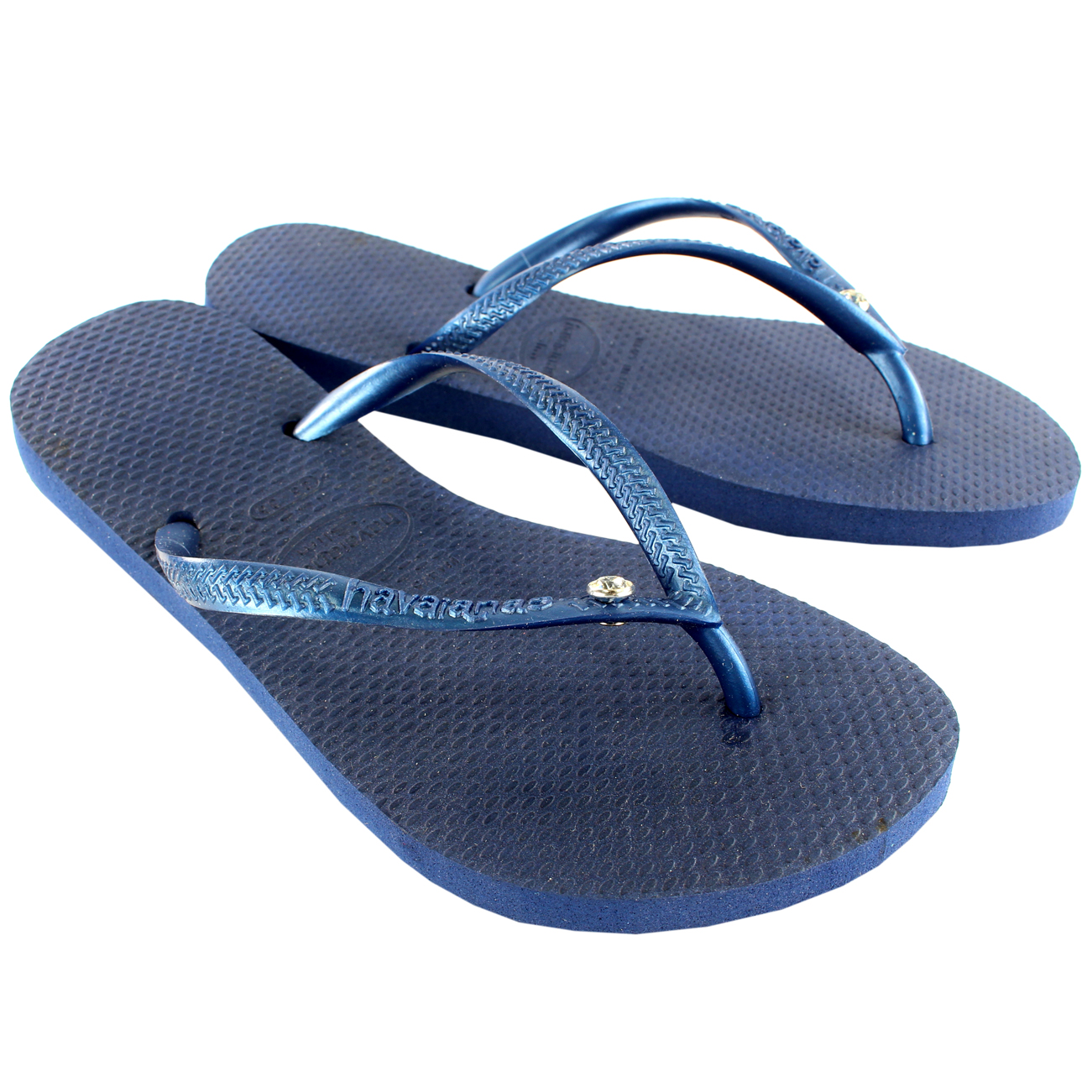 0fabf4951 Womens Havaianas Slim Crystal Glamour Sw Flip Flop Summer Sandal UK Sizes  1-8