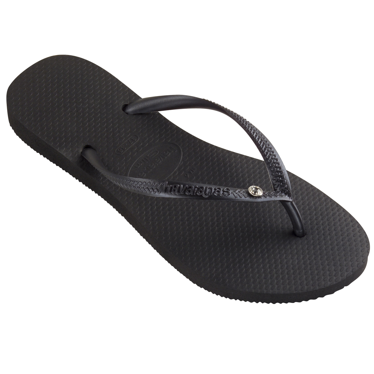 15348ba1b Details about Womens Havaianas Slim Crystal Glamour Sw Summer Rubber  Diamante Flip Flop UK 1-8