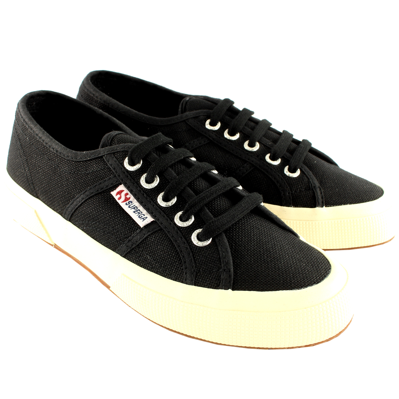 Mens Superga 2750 Cotu Classic Plimsoll Lace Up Canvas Casual Trainers All Sizes