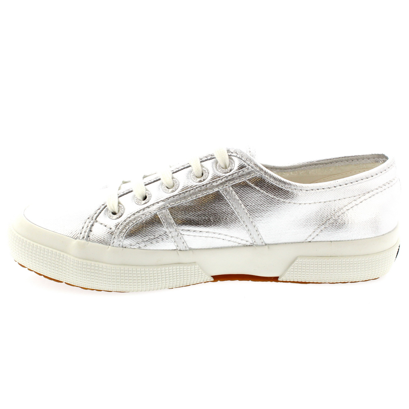 Womens Superga 2750 Cotmetu Casual Metallic Low Top Plimsoll Trainers Trainers Trainers UK 3-8 2032a5