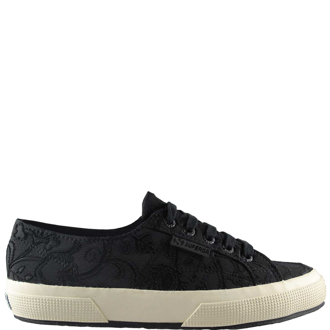 Superga Embroidery Flower Crepe