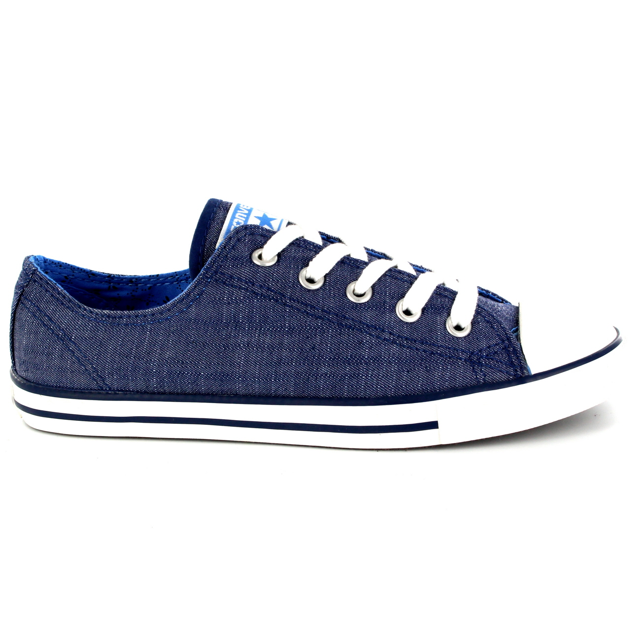 f08339d9c133 Womens Converse Dainty Denim Ox All Star Chuck Taylor Lace Up ...