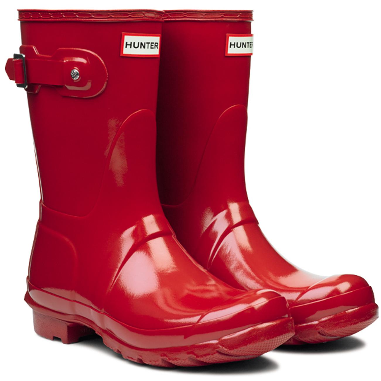 Damenschuhe Hunter Original Rain Short Gloss Winter Festival Rain Original Wellington Stiefel UK 3-9 6d9d8d