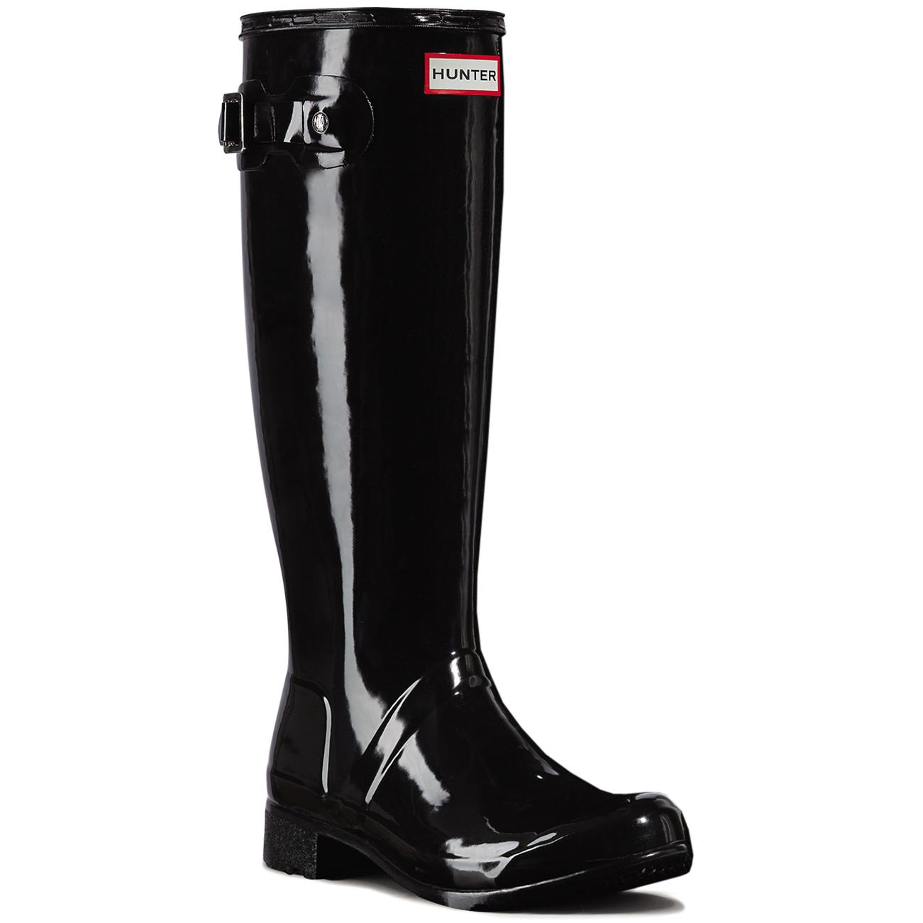 84ad73428a Details about Womens Hunter Original Tour Gloss Wellingtons Wellies Winter  Rain Boots UK 3-9