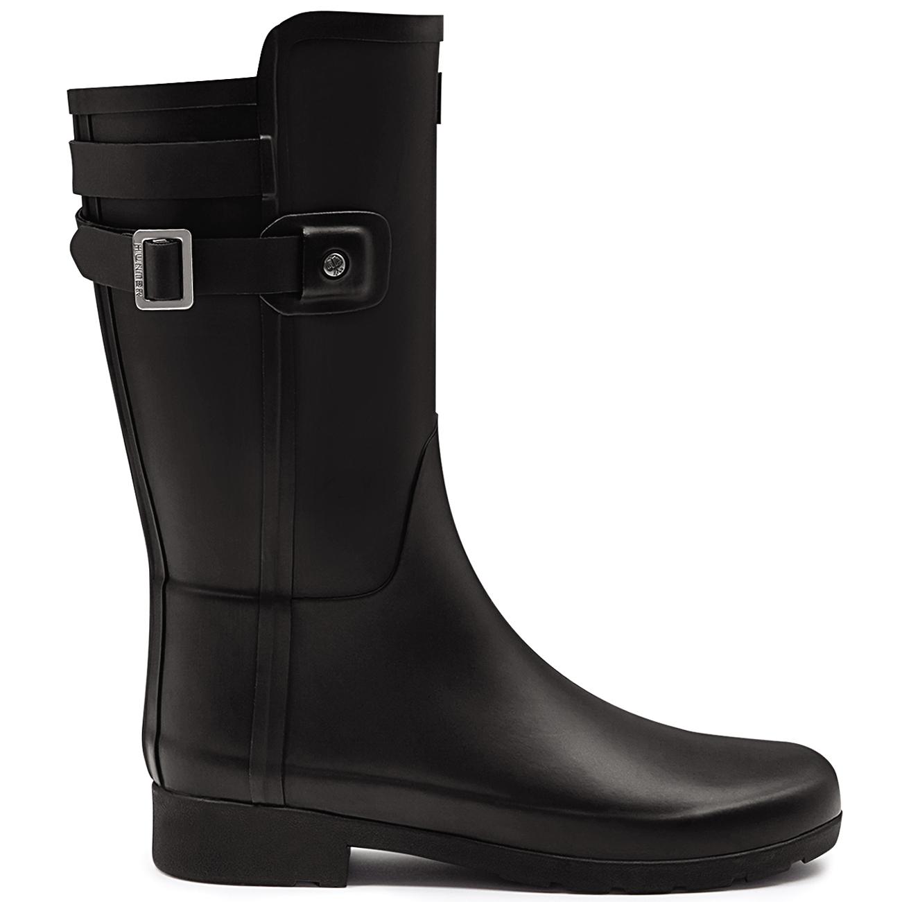 Womens Hunter Original Refined Back Strap Short Wellington Snow Rain Boot UK 3-9
