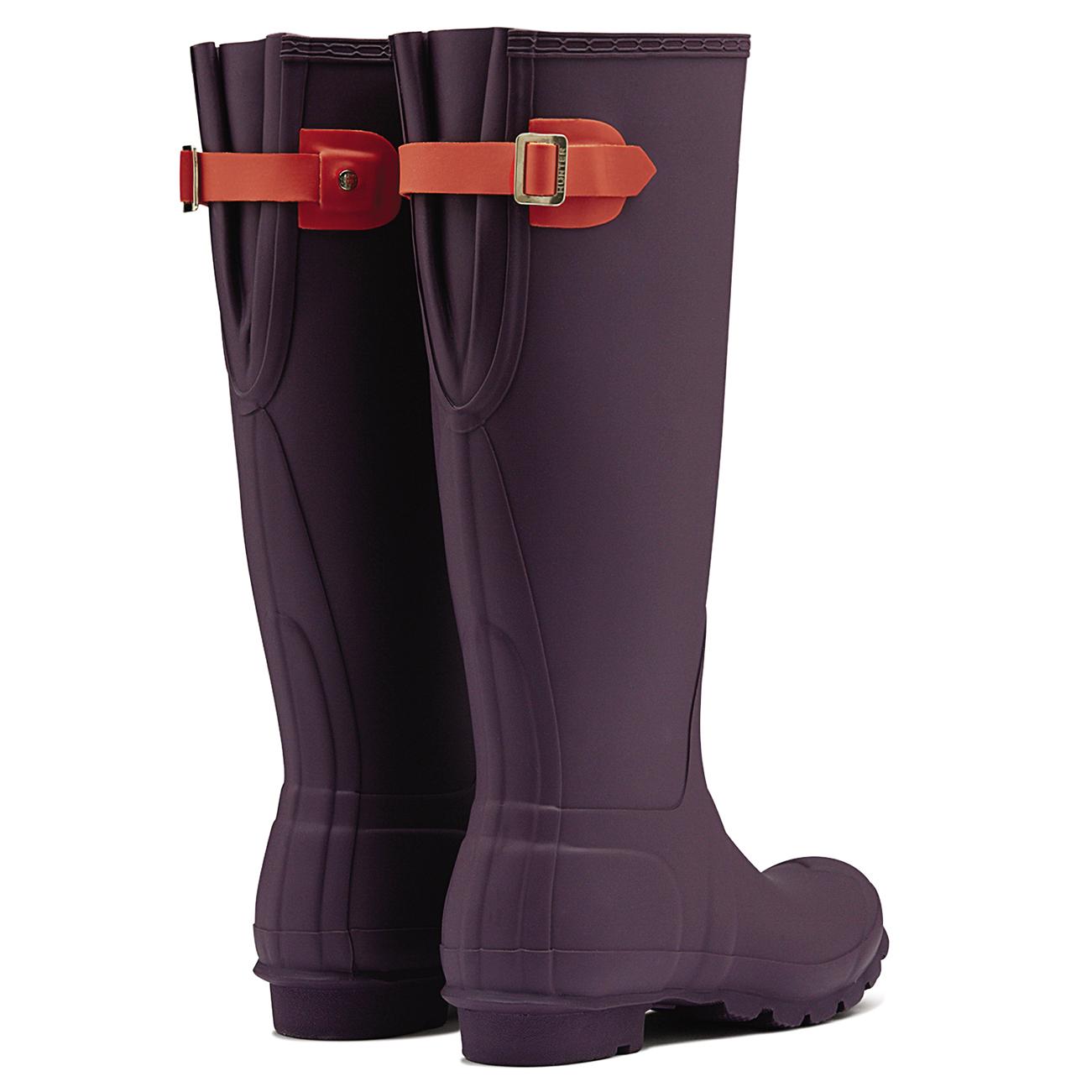 Da Donna Hunter regolabile sul retro Neve Impermeabili Pioggia Tg Gomma Stivali Impermeabili Neve Uk 3-9 410d10