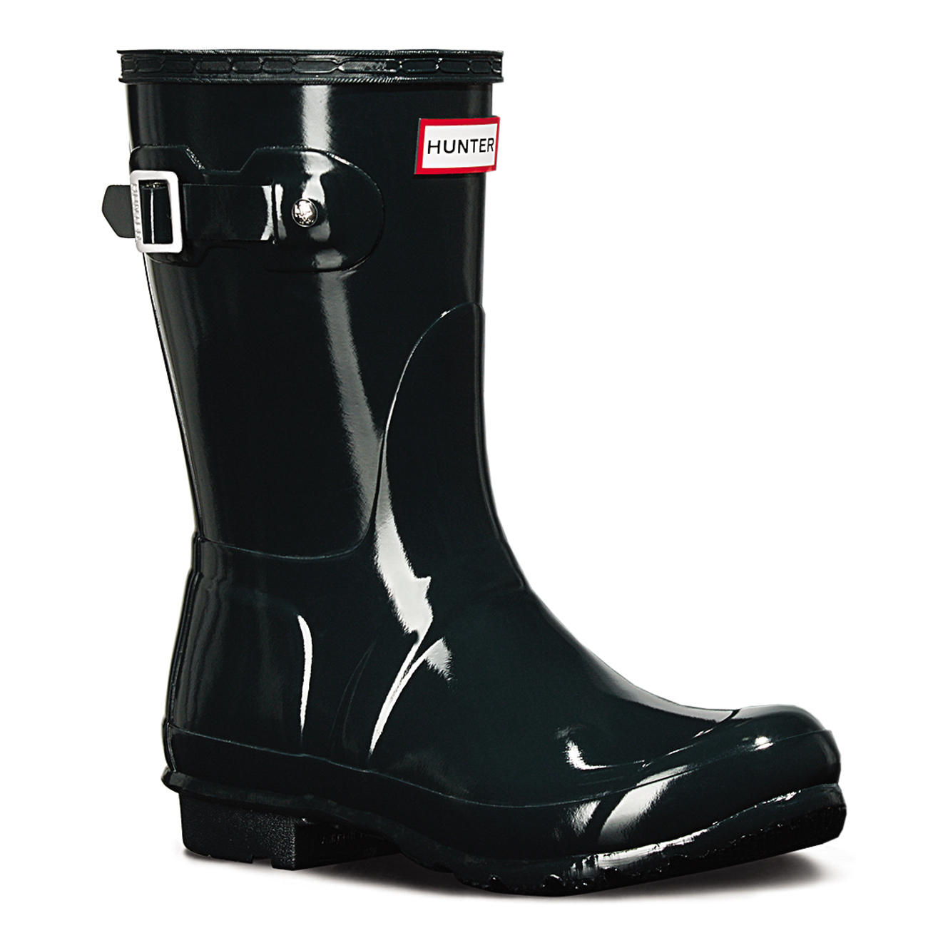 Ladies Hunter Original Short Gloss Rain Wellies Winter Mid Calf Boots All Sizes