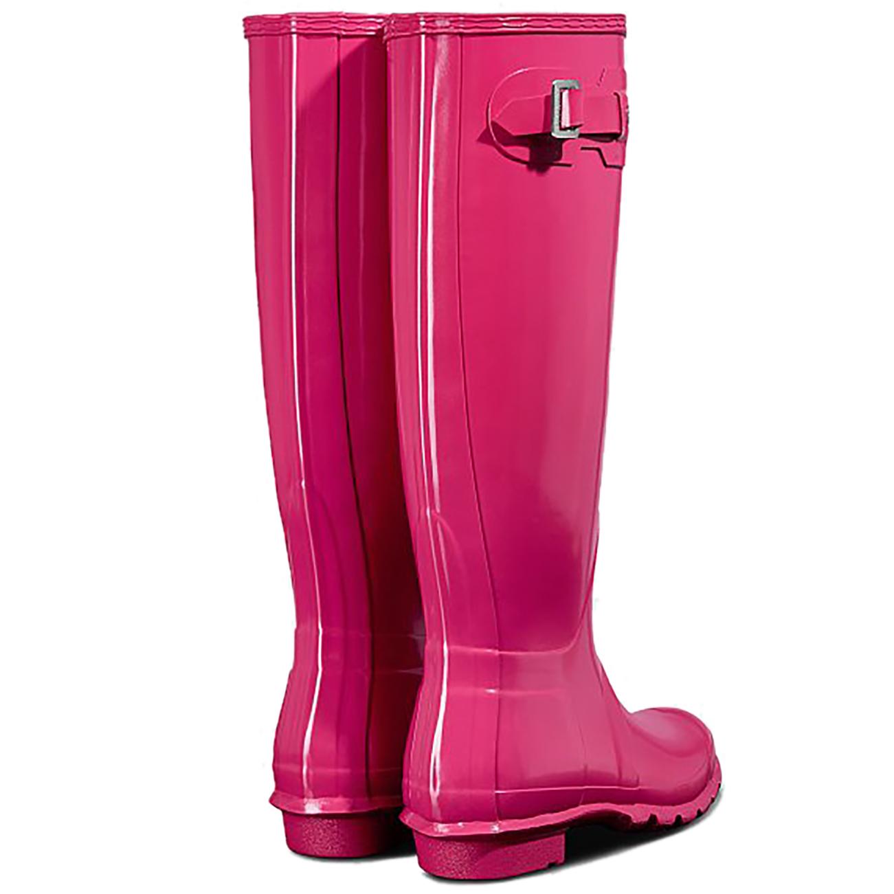 Womens Womens Womens Hunter Original Tall Gloss Rubber Waterproof Rain Wellington Boots UK 3-9 4a54d1